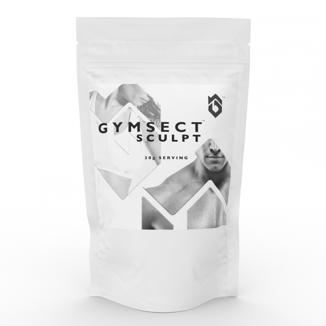 GYMSECT SCULPT Unflavoured Cricket Protein Powder Blend (Single Serving Front)